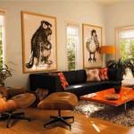 تصميم غرف معيشة باللون البني جميلة - 42427