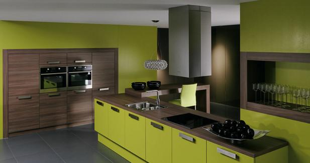 تصميم مطبخ تفاحي وبني | المرسال