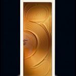 تصميم باللون الذهبي لأبواب الغرف المودرن