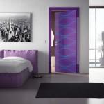 باب غرفة مودرن باللون الموف