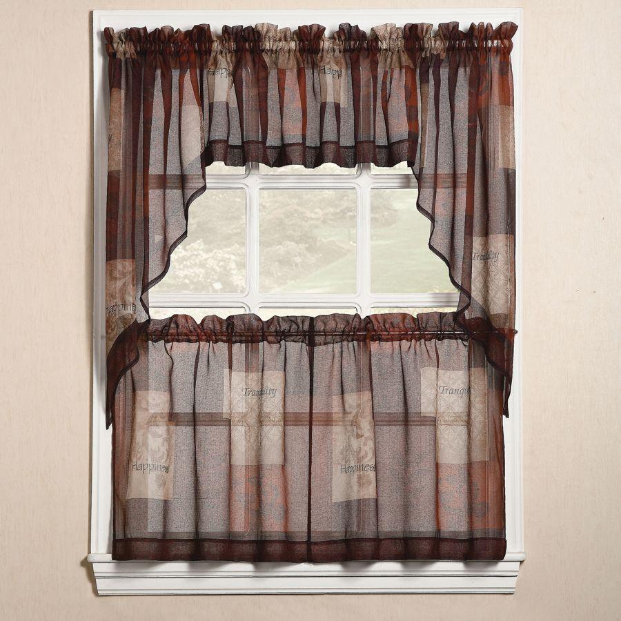 Burgundy Kitchen Curtains: تصميم ستارة مطبخ شفافة