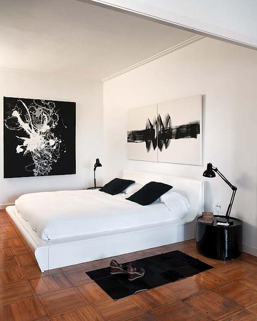 تصاميم غرف نوم ابيض واسود جنان | المرسال