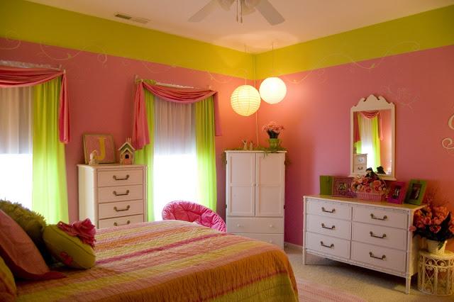 تصاميم غرف نوم بنات وردي وتفاحي | المرسال