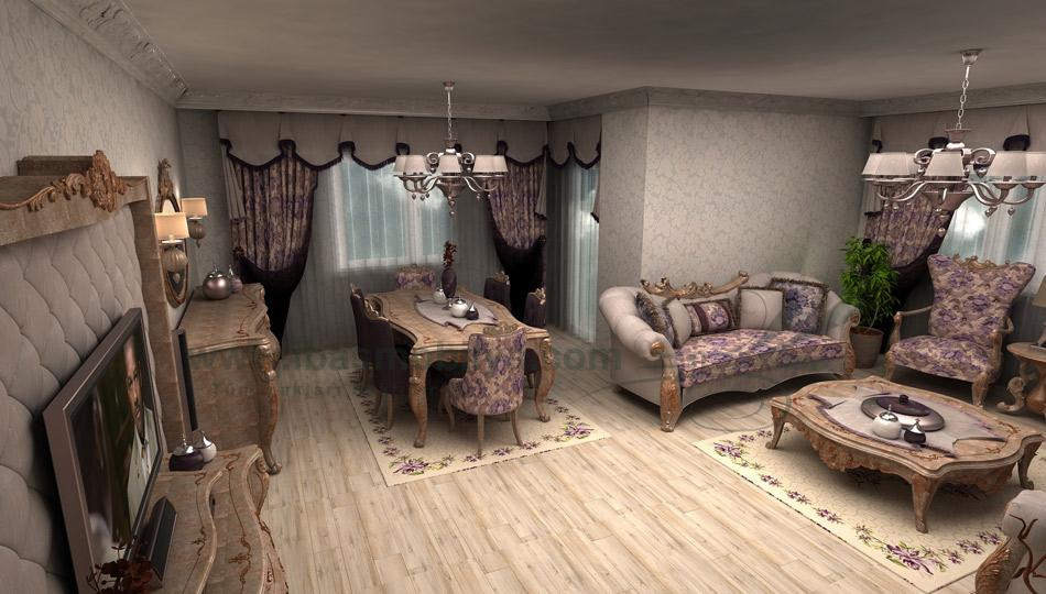 klasik salon 0115 مجموعة تصاميم صالونات تركي حديثة