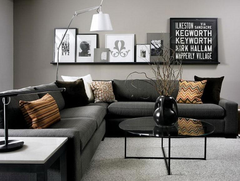 تصميم غرف معيشه رمادي فريد من نوعه | المرسال