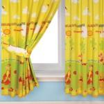 تصميم لستارة غرف اطفال باللون الأصفر