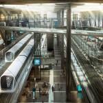 قطارات شركة الريل القطرية بقطر