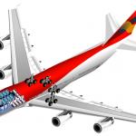 طائرة بوينغ 747 بالتوضيح الداخلي