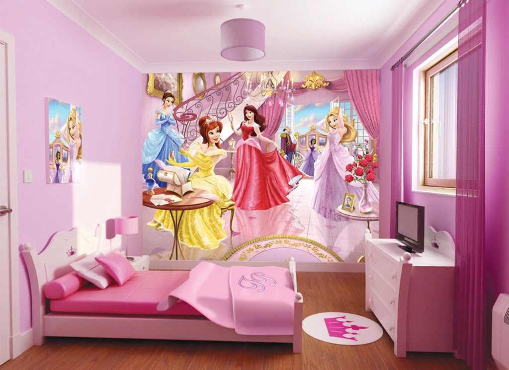 ورق حائط باربي بغرف نوم اطفال فوشي | المرسال