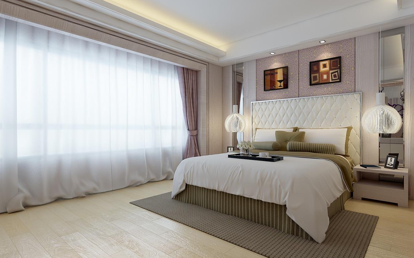 ستائر بيضاء لغرف نوم مميزة واسقف جبسية بيضاء | المرسال