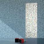 جدران وابوب منقطة ازرق واحمر