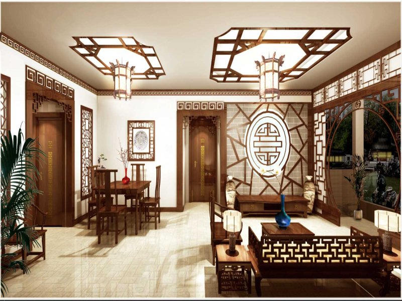 for Oriental style living room furniture