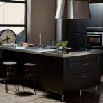 تصاميم مطبخ بني غامق