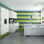 اشكال حوائط ملونة للمطابخ