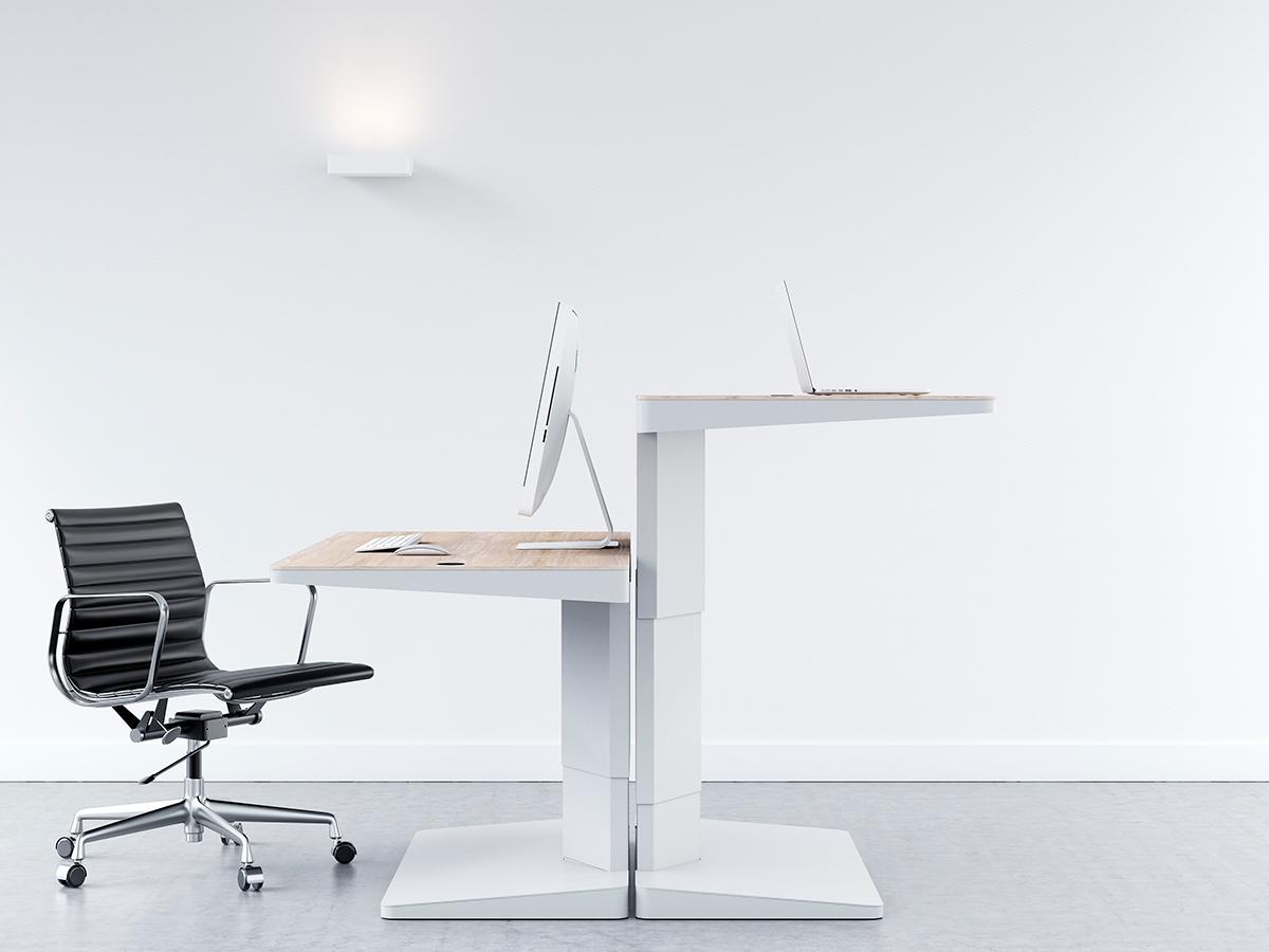 كرسي اسود لمكاتب بسيطة بيضاء