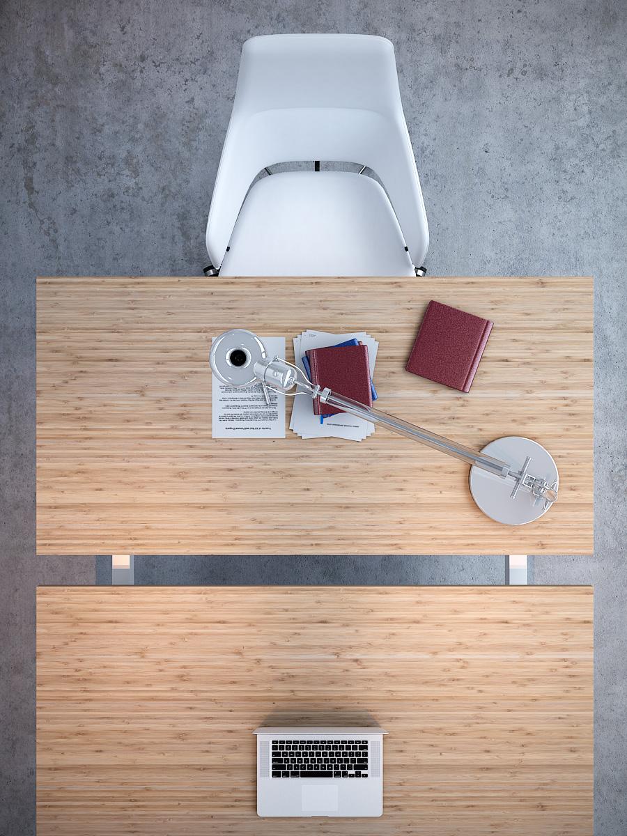 ترابيزة مكتب بيج مستطيلة مع كرسي ابيض