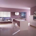 مطابخ وردي وموف بنجفة دائرية بيضاء اللون - 44714