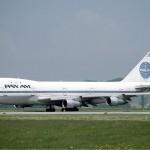 بانام بوينغ 747 في مطار زيوريخ مايو 1985