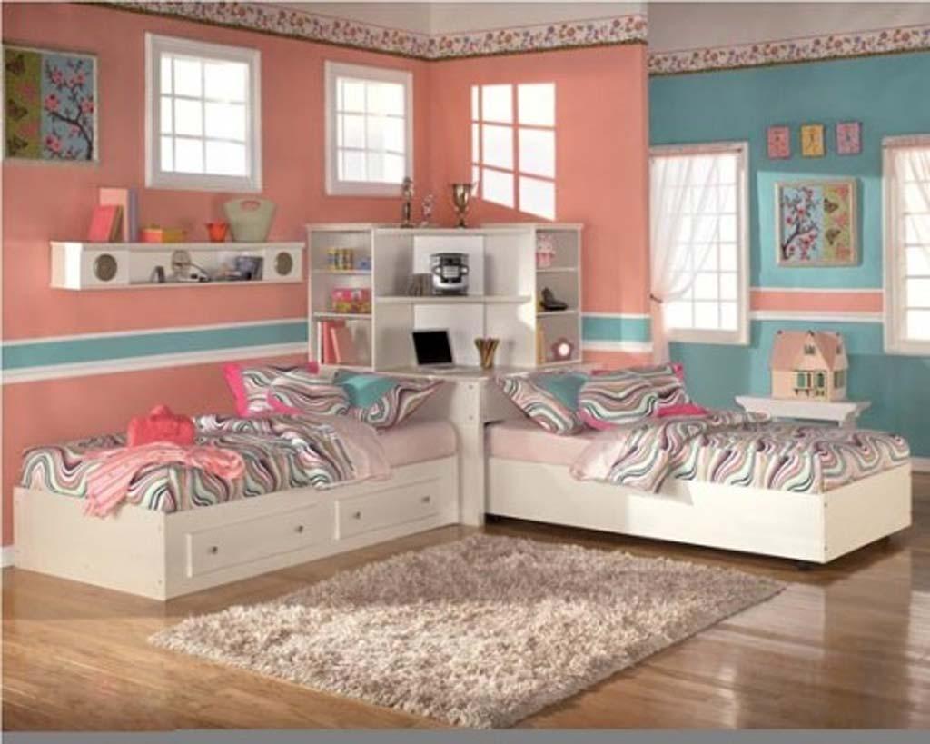 تصاميم غرف نوم بنات مزدوجة رائعة | المرسال