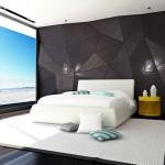 حوائط وارضيات رائعة بغرف النوم باللون الاسود - 49605