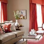 موديلات غرف جلوس بستارة حمراء