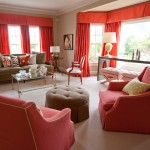 موديلات غرفة جلوس بستارة حمراء