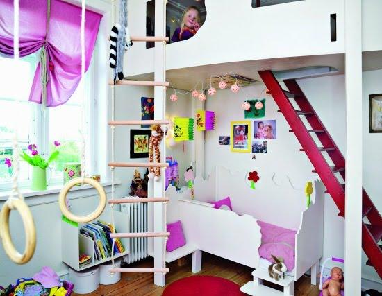 تصميم غرف نوم بنات واولاد مشتركة دورين | المرسال