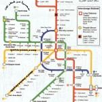 خريطة تشرح خط السير