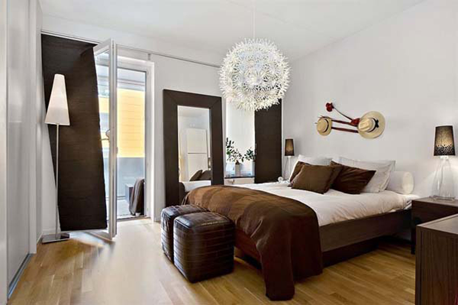 white bedroom ideas with brown furniture loft apartment ideas modern interior designs - Brown And White Bedroom Ideas