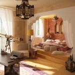 سرير ارضى بغرفة النوم المغربية