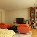 موديلات غرف جلوس بكرسي برتقالي
