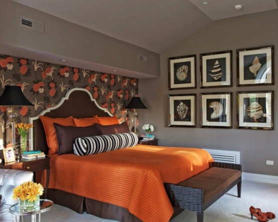 ديكورات غرف نوم برتقالي | المرسال