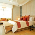 ستارة بيضاء بغرفة النوم البيج  - 49600