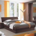 دولاب رائع باللون البني بغرفة النوم - 49603