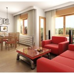 موديلات غرف جلوس بكراسي حمراء