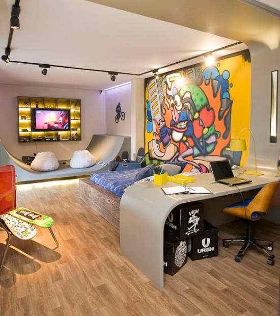 ارضيات منقوشة خشبية لغرفة نوم اطفال مع ملصقات جدران | المرسال