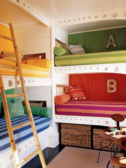 تصميم غرف نوم بنات واولاد مشتركة فريدة | المرسال