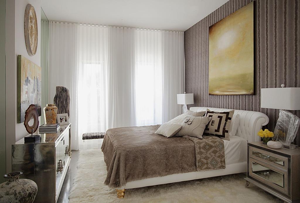 ستائر بيضاء بغرف النوم الفخمة للقصور | المرسال