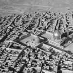 مسجد الامامين علي الهادي والحسن ابيض واسود عن بعد - 54140