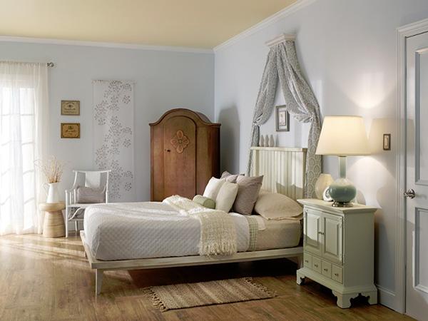غرف نوم مميزة بألوان فاتحة وارضيات خشبية | المرسال