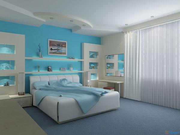 غرف نوم بألوان سماوية مميزة | المرسال