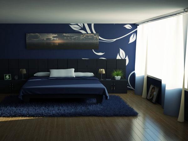 غرف نوم مميزة بلون ازرق مودرن | المرسال
