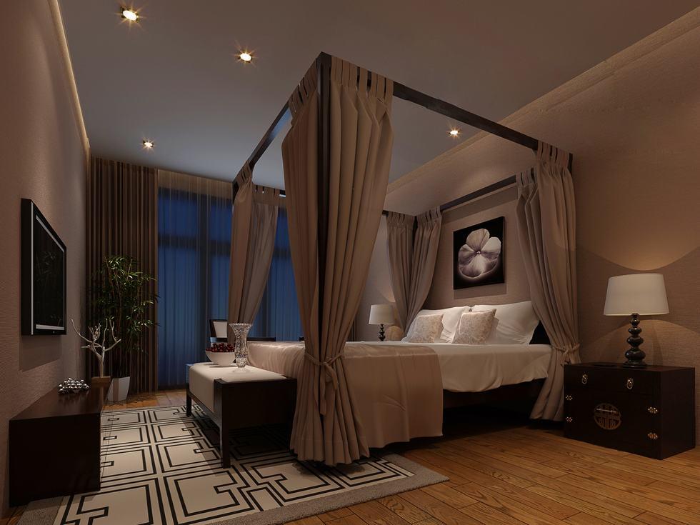 سرير بأعمدة بغرف النوم الفخمة للقصور | المرسال
