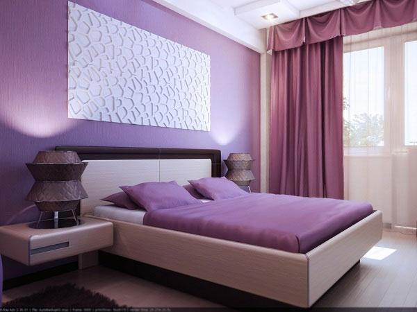 اللون الموف والبنفسجي بغرف النوم الجديدة | المرسال