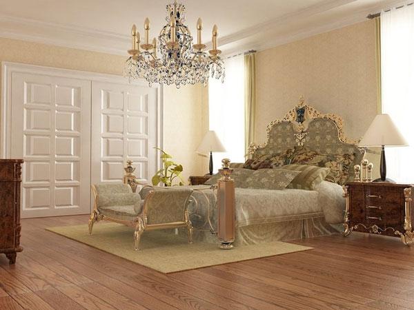 ارضية خشبية بلون بيج بغرف النوم الجديدة   المرسال
