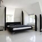 الابيض والاسود بغرف النوم