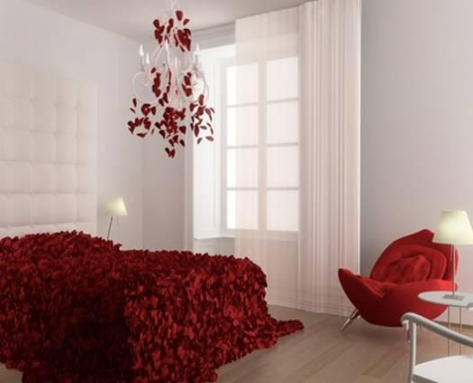تصاميم ساحرة لغرف نوم مزينة بالورد | المرسال