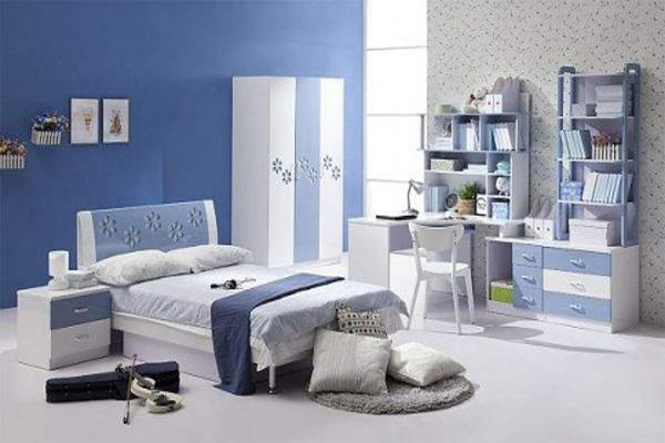 ستايلات غرف نوم اولاد باللون الازرق   المرسال