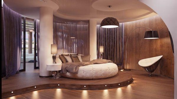 ستايلات مبهرة لسراير غرف نوم دائرية   المرسال