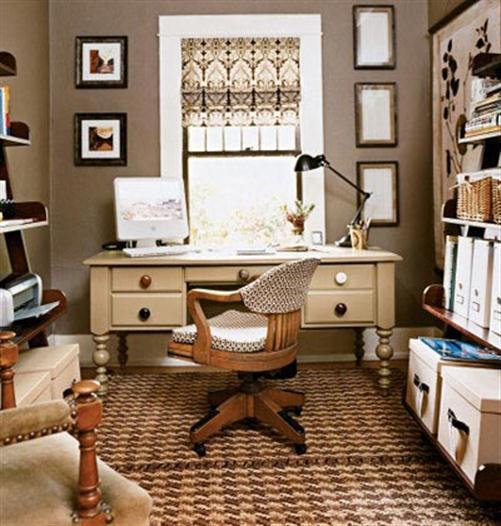 Small Office Den Decorating Ideas: مكاتب صغيرة فاخرة ومميزة